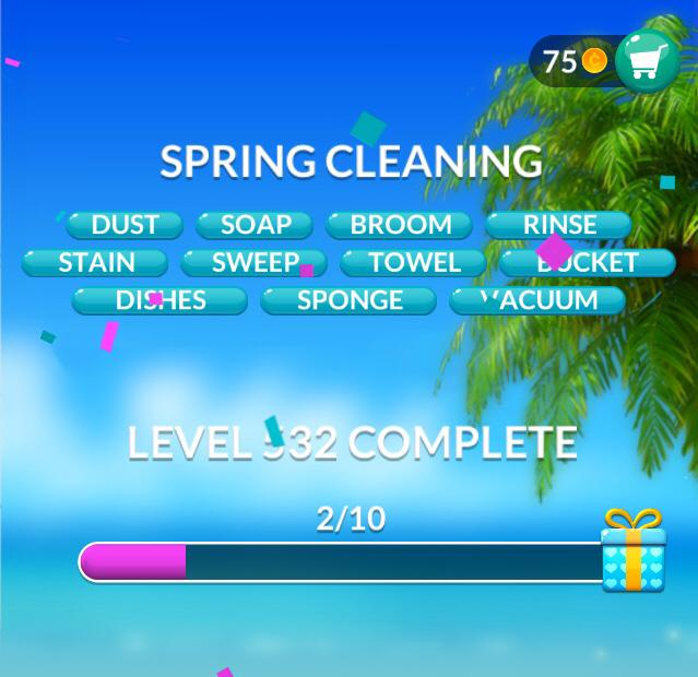 Word Stacks Level 532 Spring Cleaning Answers