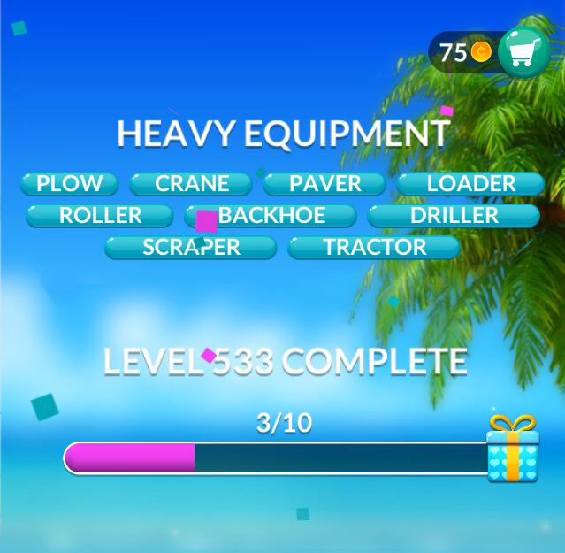 Word Stacks Level 533 Heavy Equipment Answers