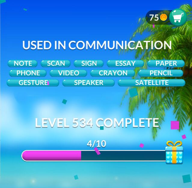 Word Stacks Level 534 Used in communication Answers