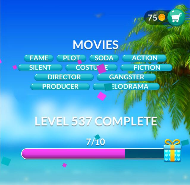 Word Stacks Level 537 Movies Answers