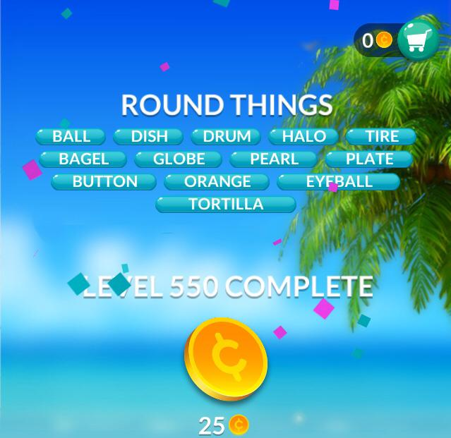 Word Stacks Level 550 Round Things Answers