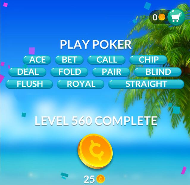 Word Stacks Level 560 Play Poker Answers