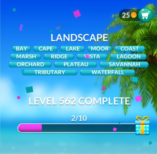 Word Stacks Level 562 Landscape Answers