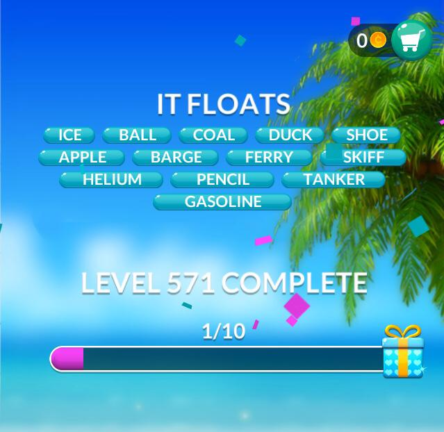Word Stacks Level 571 It floats Answers