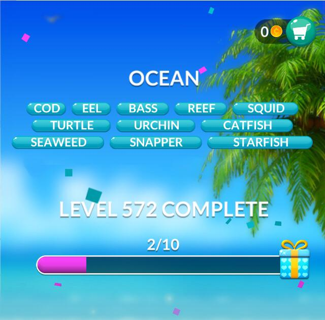 Word Stacks Level 572 Ocean Answers