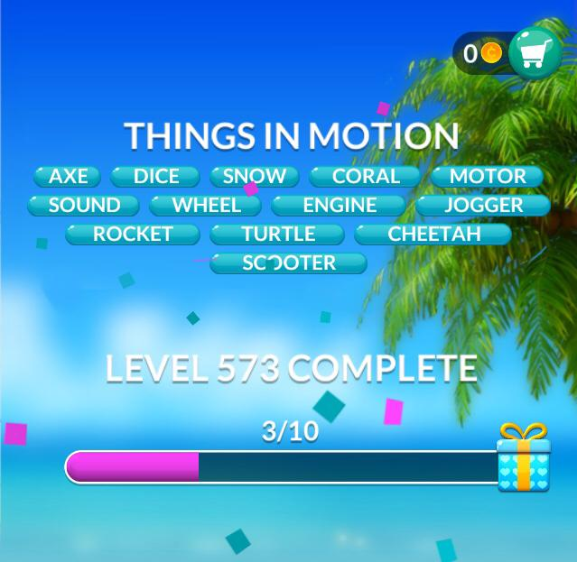 Word Stacks Level 573 Things in motion Answers