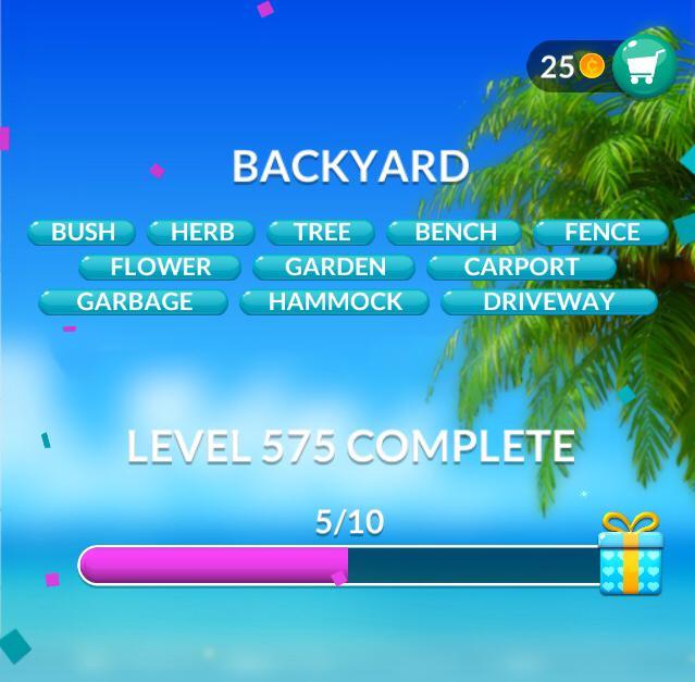 Word Stacks Level 575 Backyard Answers