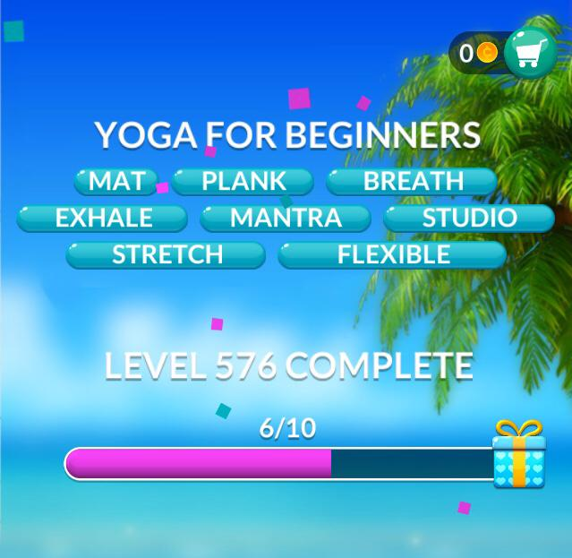 Word Stacks Level 576 Yoga for beginners Answers