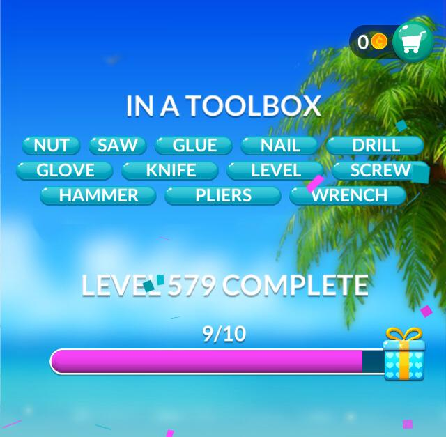 Word Stacks Level 579 In a tool box Answers