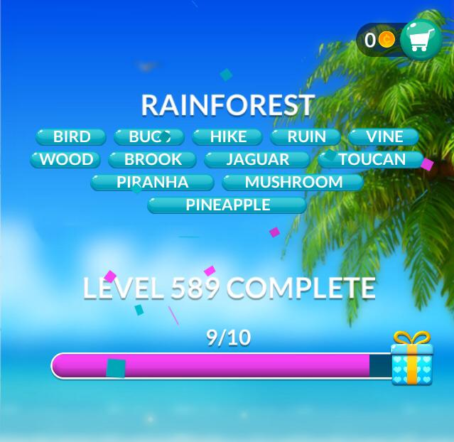 Word Stacks Level 589 Rainforest Answers