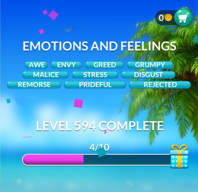Word Stacks Level 594 Emotions and feelings Answers