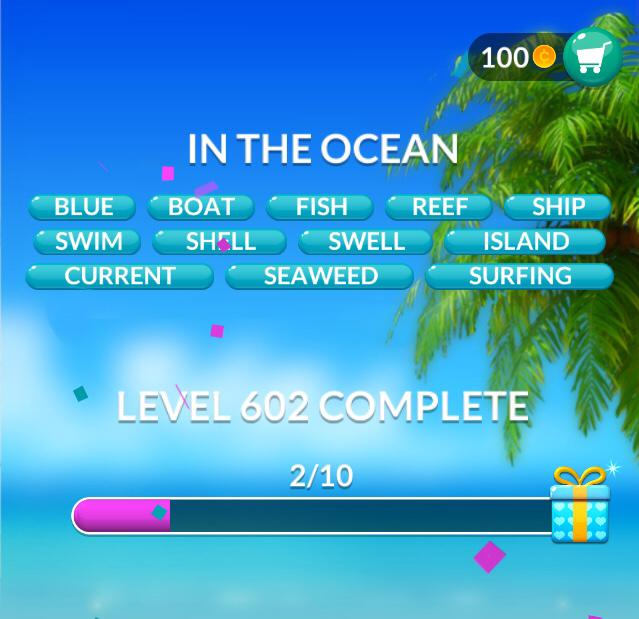 Word Stacks Level 602 In the ocean Answers