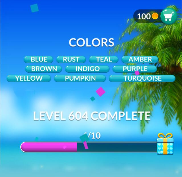 Word Stacks Level 604 Colors Answers