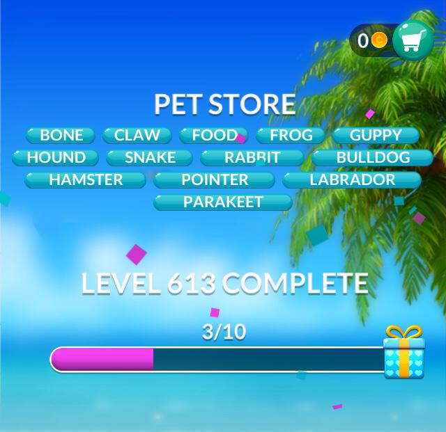 Word Stacks Level 613 Pet store Answers