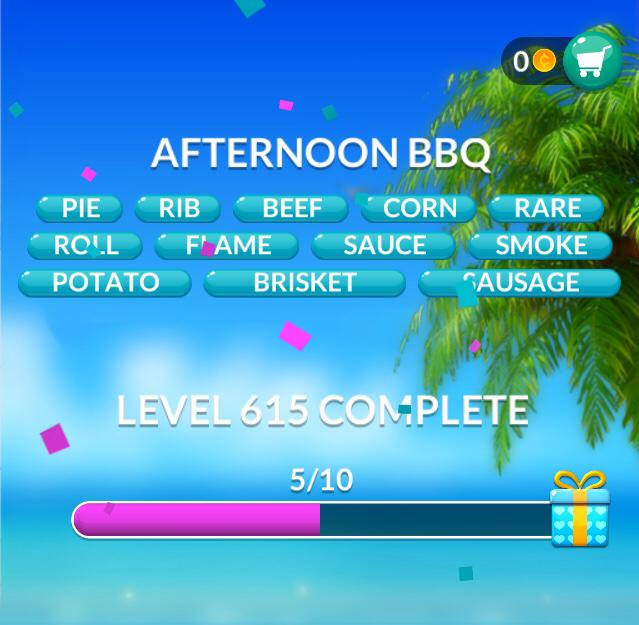 Word Stacks Level 615 Afternoon BBQ Answers