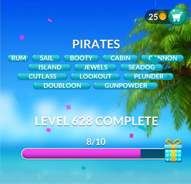 Word Stacks Level 628 Pirates Answers