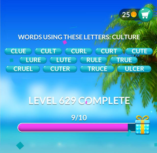 Word Stacks Level 629 Answers
