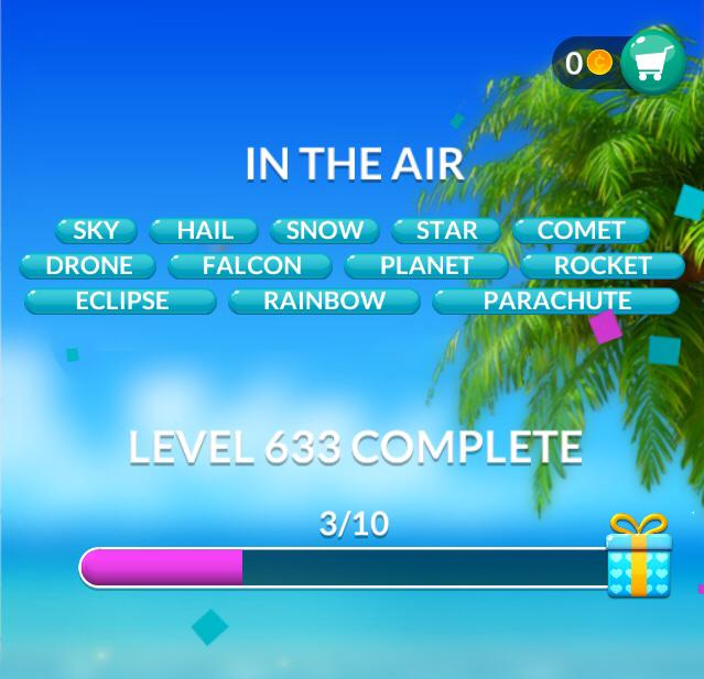 Word Stacks Level 633 In the air Answers