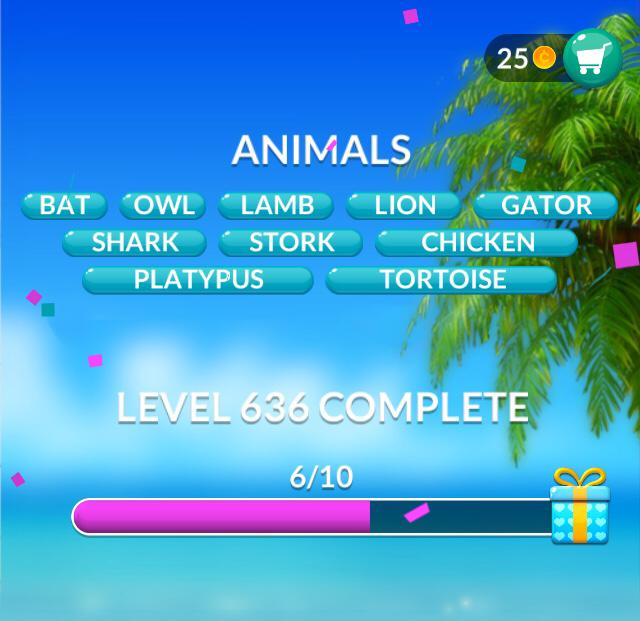 Word Stacks Level 636 Animals Answers
