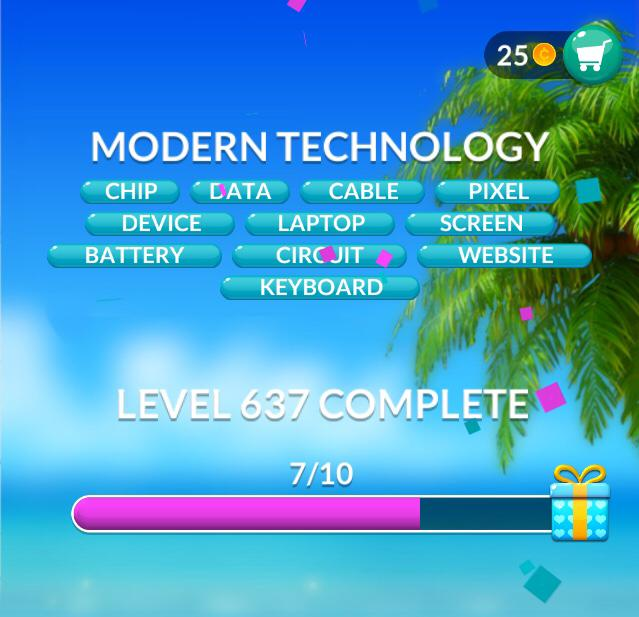 Word Stacks Level 637 Modern technology Answers