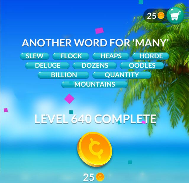 Word Stacks Level 640 Answers