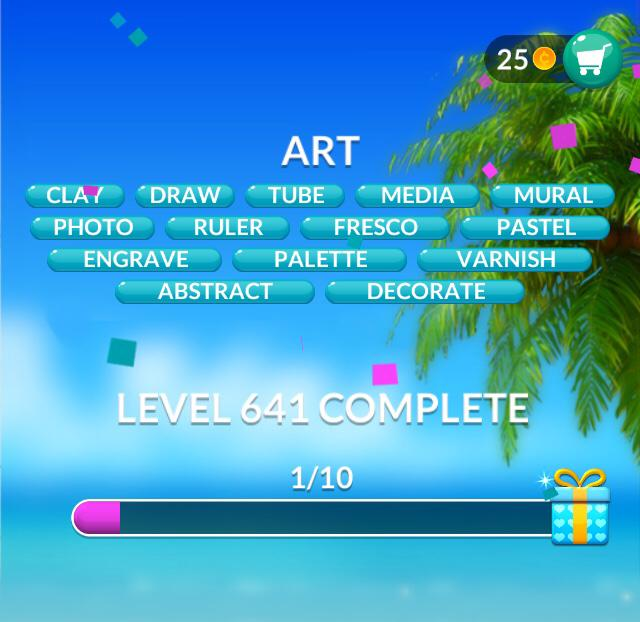 Word Stacks Level 641 Art Answers