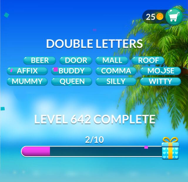 Word Stacks Level 642 Double Letters Answers