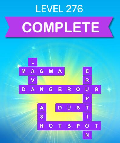 Word Slices Level 276 Volcanoes Answers » Qunb