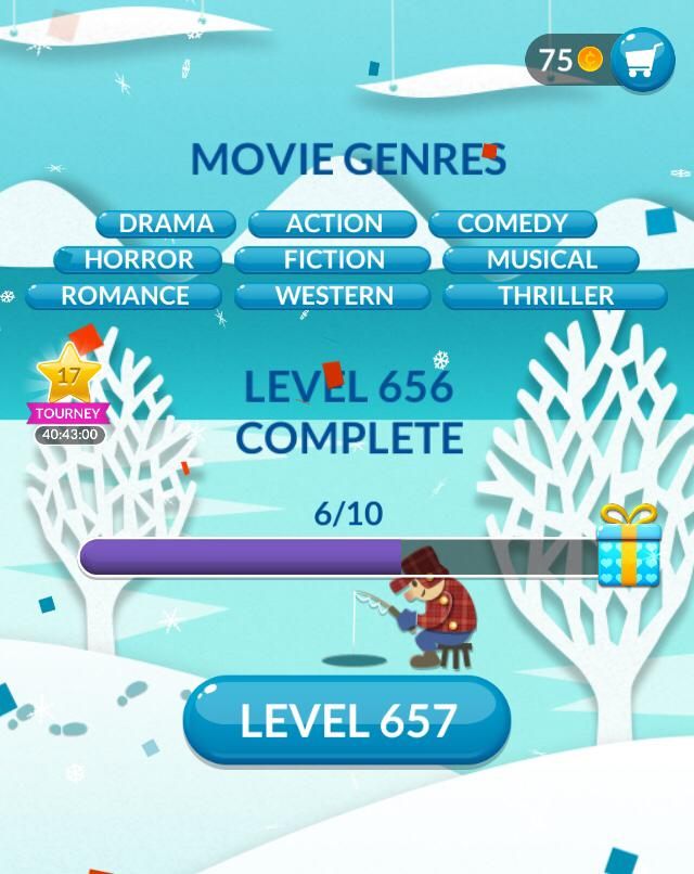 Word Stacks Level 656 Movie Genres Answers