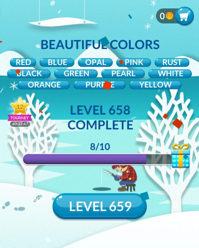 Word Stacks Level 658 Beautiful Colors Answers