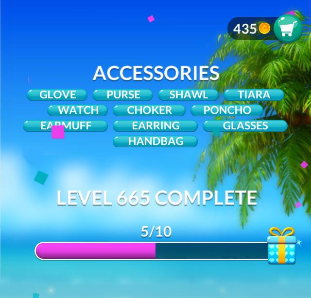 Word Stacks Level 665 Accessories Answers