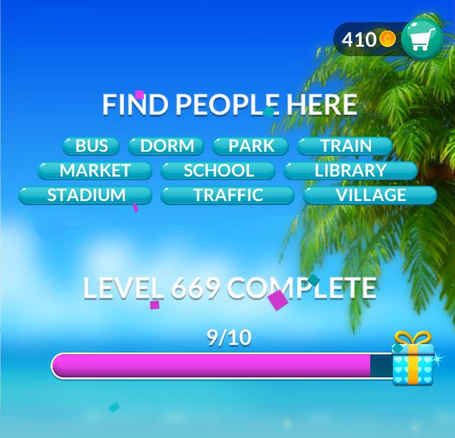 Word Stacks Level 669 Find people here Answers