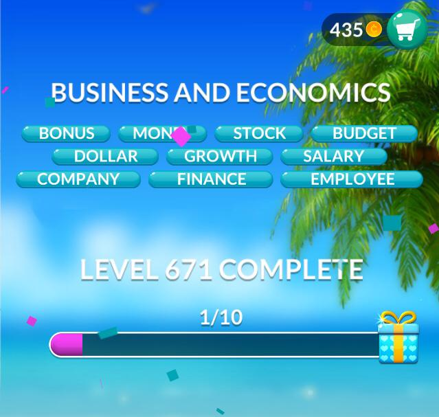 Word Stacks Level 671 Business and economics Answers