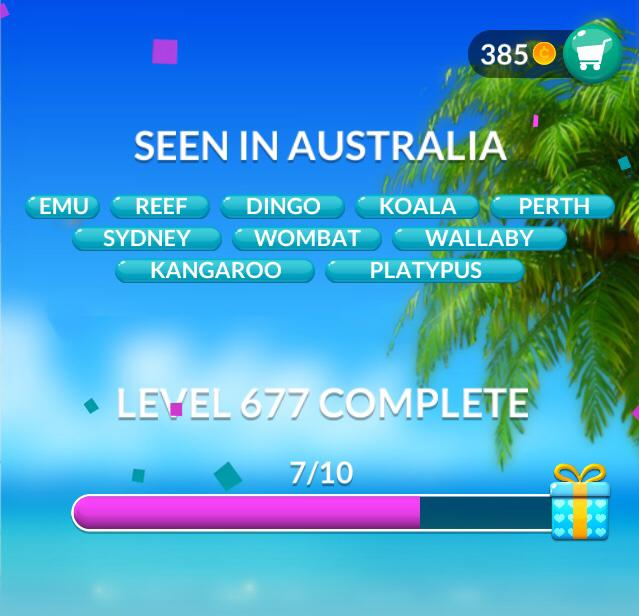 Word Stacks Level 677 Seen in Australia Answers