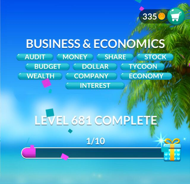 Word Stacks Level 681 Business & economics Answers