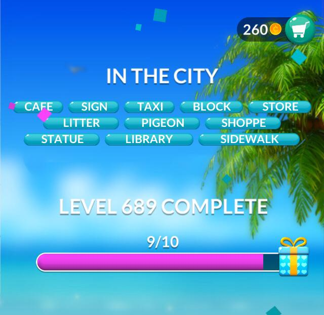 Word Stacks Level 689 In the city Answers