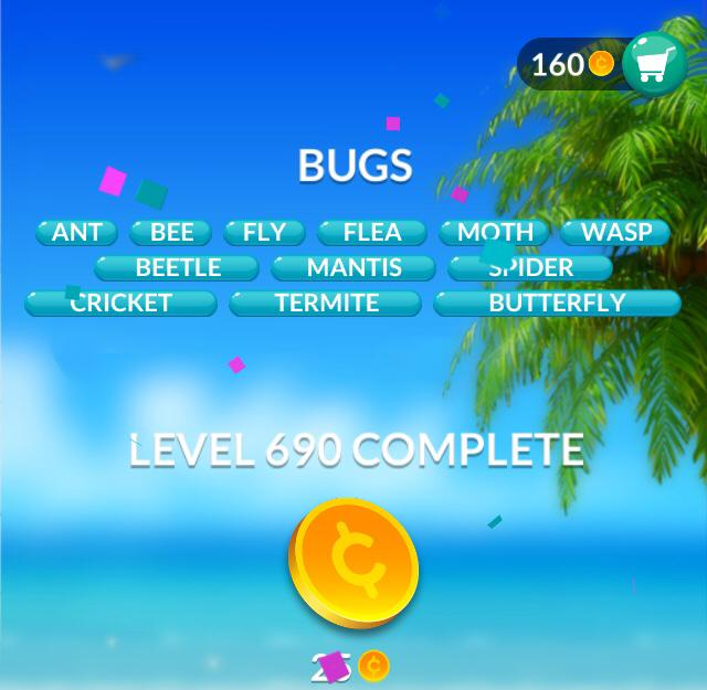 Word Stacks Level 690 Bugs Answers