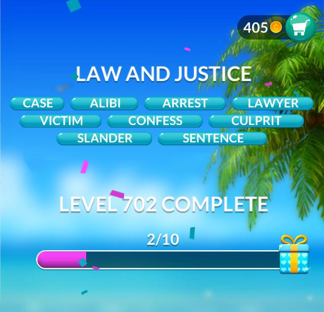 Word Stacks Level 702 Law and justice Answers