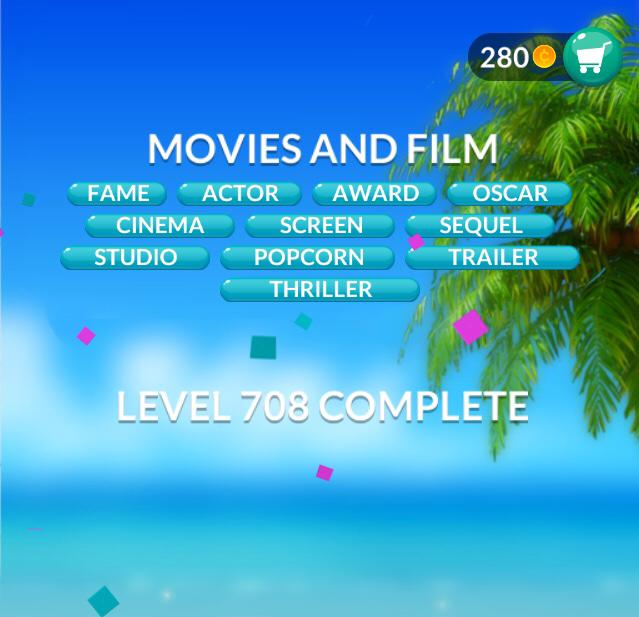 Word Stacks Level 708 Movies and film Answers