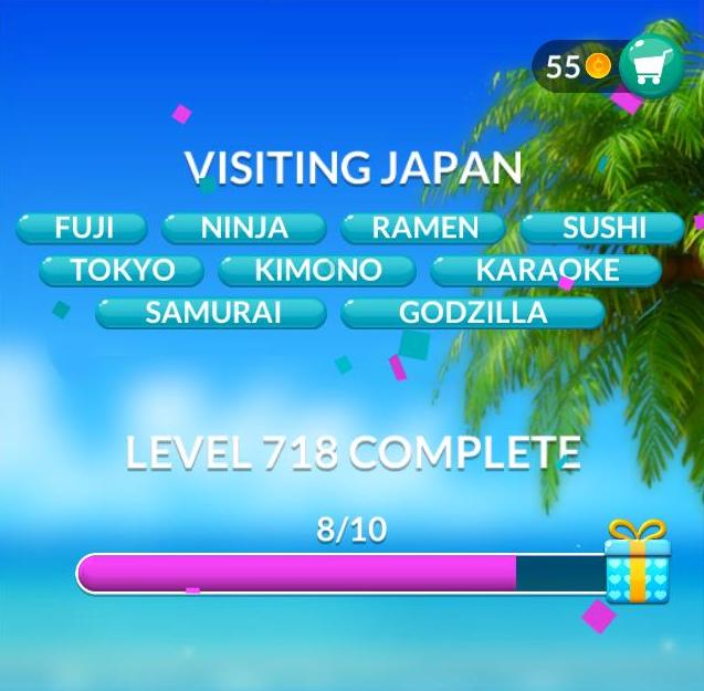Word Stacks Level 718 Visiting Japan Answers
