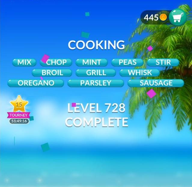 Word Stacks Level 728 Cooking Answers