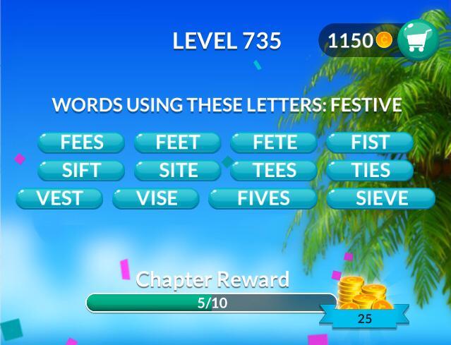 Word Stacks Level 735