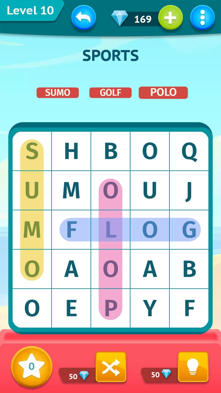 Smart Words Word Search Simple Level 10 » Qunb