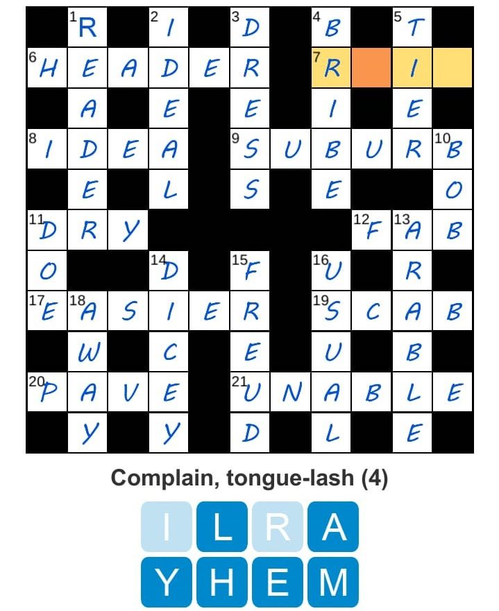 Puzzle Page Daily Crossword April 4 2019 Answers » Qunb