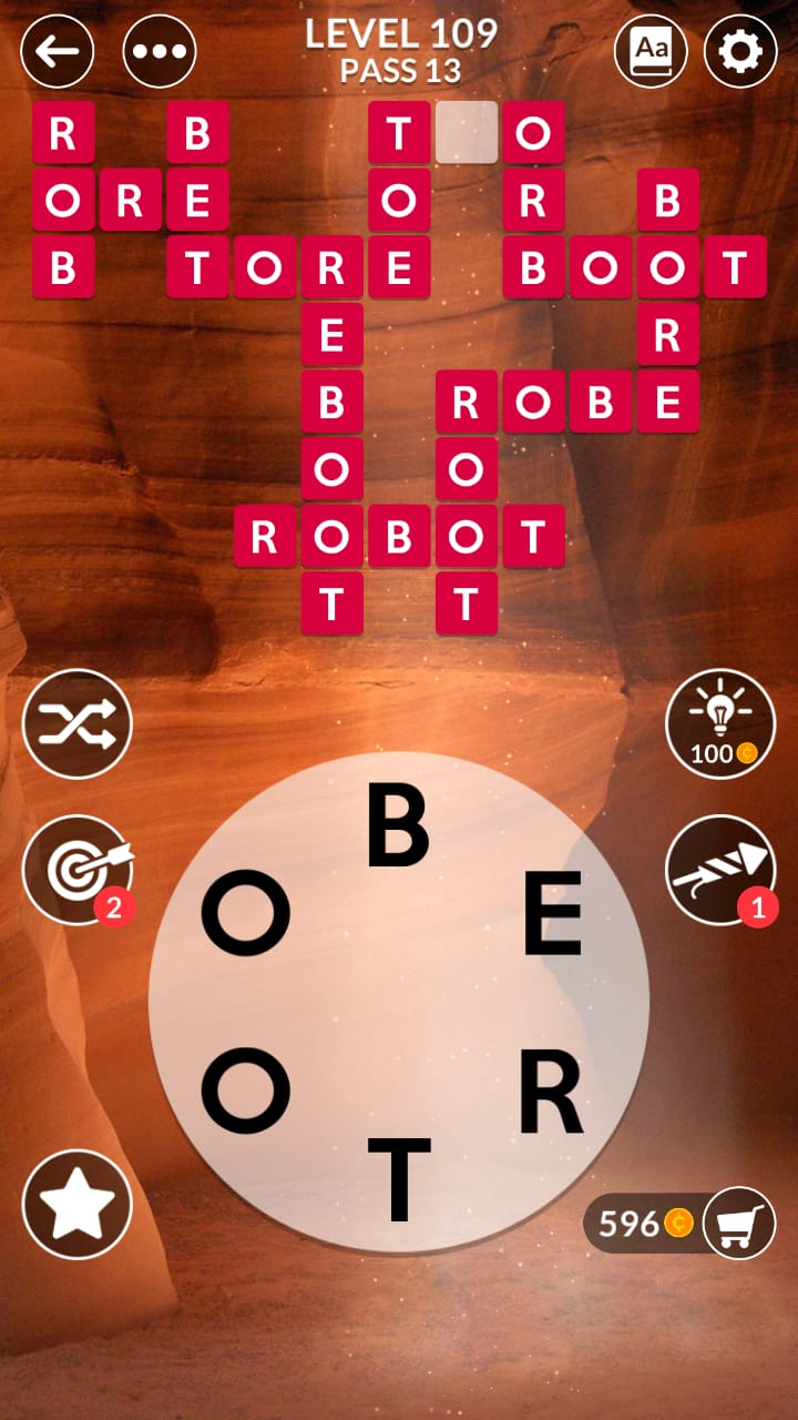 Wordscapes Level 109 (Pass 13 Canyon) Answers and ...