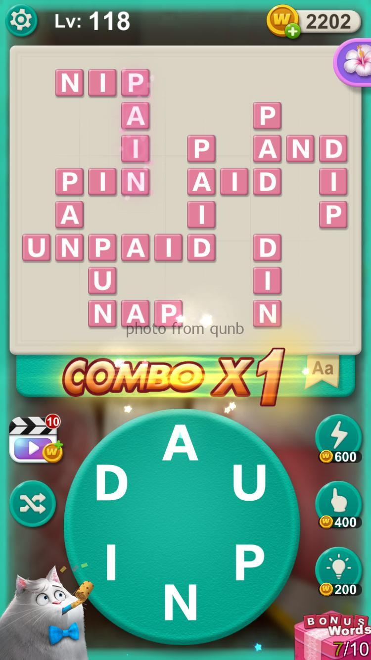 Word Villas Level 118 Answers Qunb