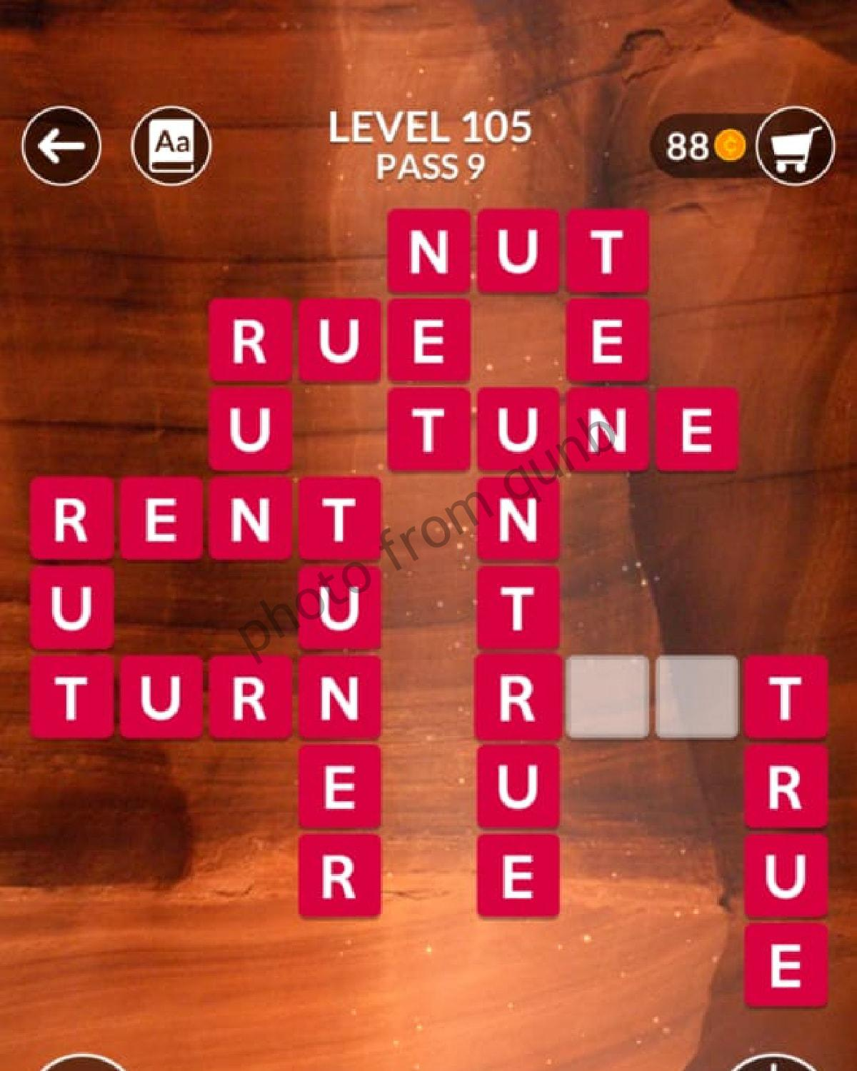Wordscapes Level 105 Pass 9 Answers » Qunb