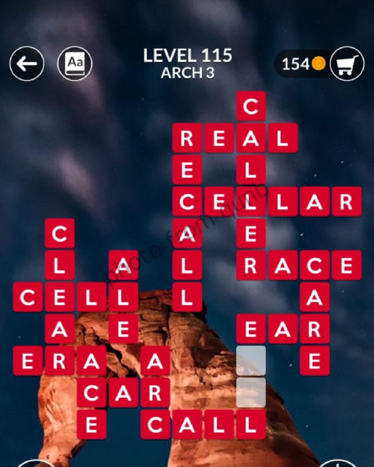 Wordscapes Level 115 Arch 3 Answers Qunb