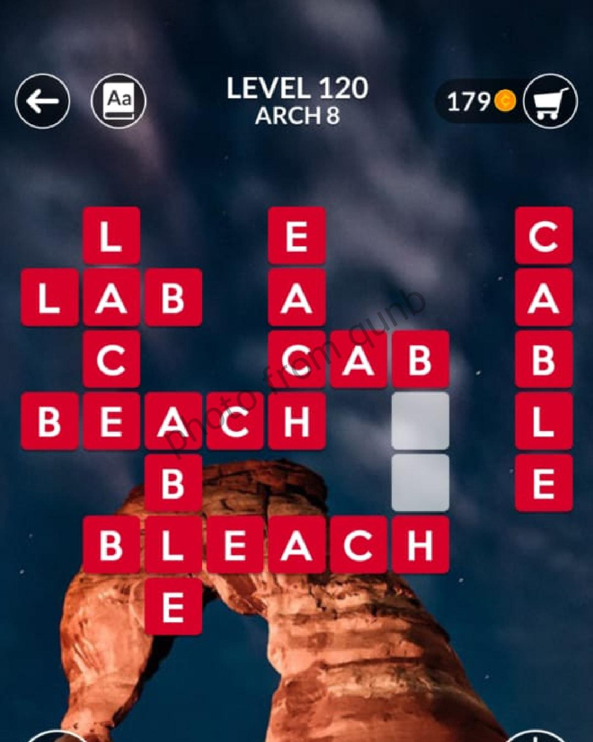 Wordscapes Level 120 Arch 8 Answers Qunb