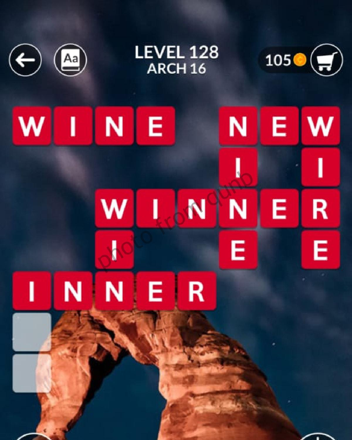 Wordscapes Level 128 Arch 16 Answers Qunb